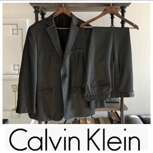 Calvin Klein Shark Skin Slim-Fit Suit -34 W x 32 L